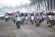 Ribuan Biker Suzuki 'Balapan' Bareng Iannone di Sentul