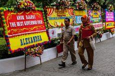 Karangan Bunga untuk Ahok-Djarot di Balai Kota Terus Bertambah