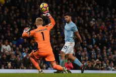 Hasil Liga Inggris, Man City Menang Telak Berkat 4 Gol Aguero