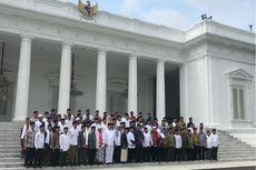 Foto Bersama Jokowi dan Ulama Se-Jabar ala Kabinet Kerja...