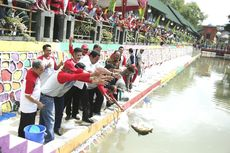 Kali Semarang Disulap Jadi Area Pemancingan Umum