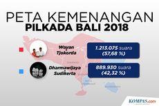 INFOGRAFIK: Peta Kemenangan Pilkada Bali 2018
