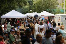 Ketika Ribuan Orang Nikmati Goyang Dangdut di Central Park, New York