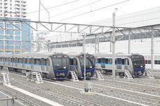 Tiga Rangkaian Kereta MRT Tiba di Pelabuhan Tanjung Priok