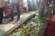 Usai Pesta Lampion Imlek, Tanaman di Kawasan Pasar Gede Solo Rusak Terinjak Pengunjung