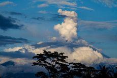Gunung Agung Erupsi, Tinggi Kolom Abu Belum Teramati