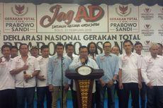 Relawan Gatot Nurmantyo Deklarasi Dukung Prabowo-Sandiaga