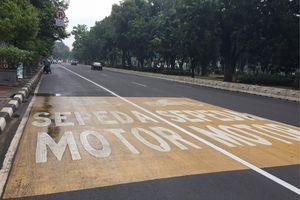 Pengendara Akan Ditilang jika Tak Masuk Jalur Khusus Motor di Thamrin
