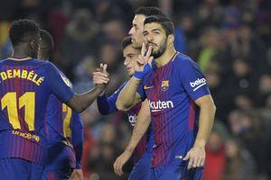 Hasil Liga Spanyol, Luis Suarez Hat-trick, Barcelona Menang Telak