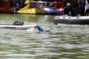 Hampir Menang, Susi Terjun dari Paddle Board dan Berenang Bareng Sandi