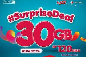 Hanya Hari Ini, Kuota Data 30 GB Telkomsel Seharga Rp 120.000