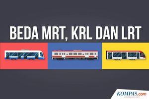 INFOGRAFIK: Mengenal Perbedaan KRL, MRT, dan LRT...