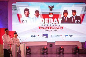 Debat Pertama, Jokowi Mendominasi dan Lebih Lama Berbicara Dibandingkan Ma'ruf Amin