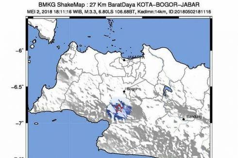Gempa Tektonik Bermagnitudo 3,3 Guncang Gunung Salak Bogor