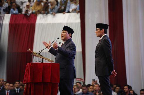 10 Janji Politik Capres Cawapres Prabowo-Sandi pada Pidato Kebangsaan