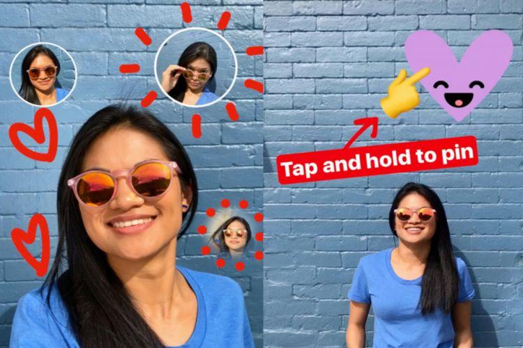 Stiker Selfie dan fitur Pin di Instagram Stories