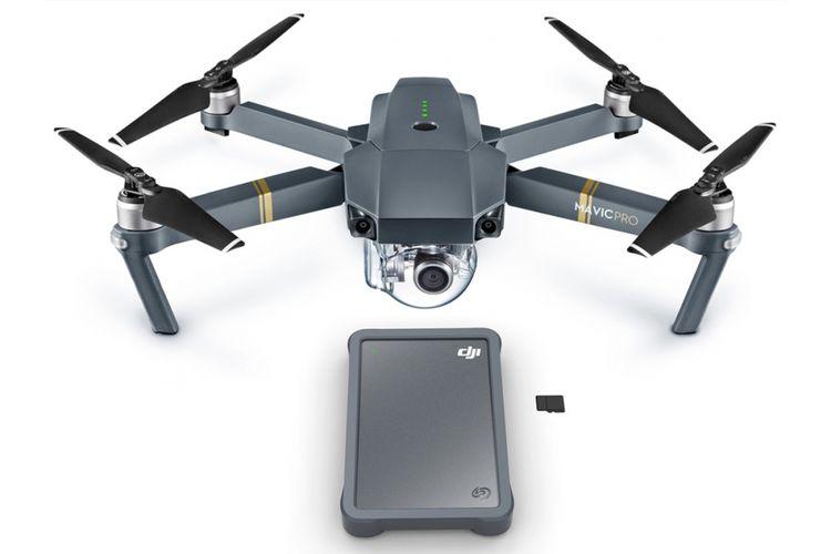 Harddisk portable Fly Drive besutan Seagate dan DJI, bersama drone Mavic Pr.
