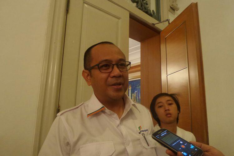 Dirut PD Pasar Jaya Arief Nasrudin di Balai Kota DKI Jakarta, Jalan Medan Merdeka Sekatan, Senin (12/6/2017).