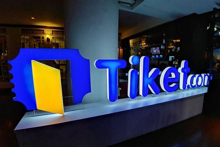 Logo situs pemesanan tiket dan hotel Tiket.com.
