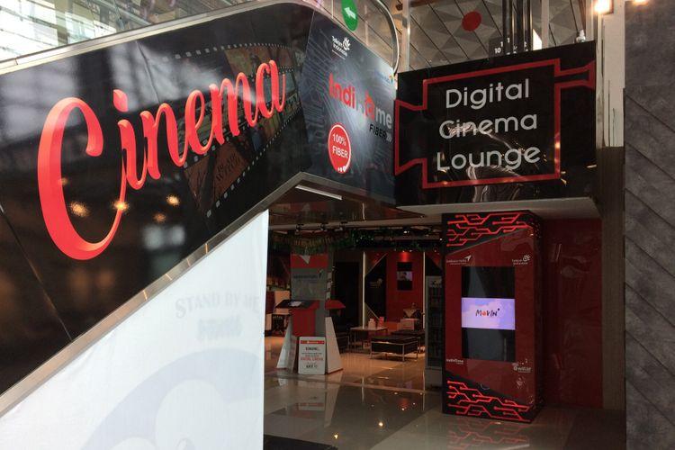 Tampak Digital Cinema Lounge di Terminal 3 Bandara Soekarno-Hatta, Tangerang, Kamis (22/6/2017). Penumpang yang mudik melalui Terminal 3 bisa memanfaatkan fasilitas ini untuk menonton film, karaoke, dan main game secara gratis.
