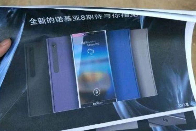 Bocoran gambar yang diduga memperlihatkan sosok Nokia 8.
