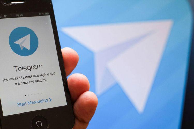 Ilustrasi aplikasi Telegram