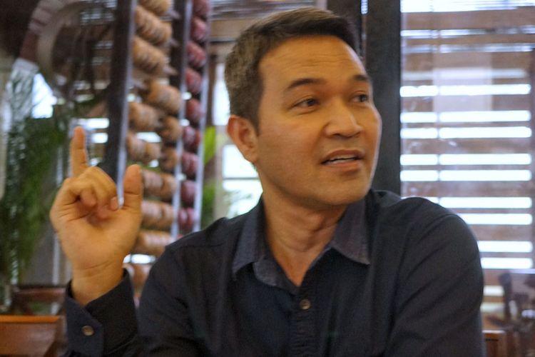 Corporate Secretary Division General Manager Indosat Mega Media, Syachrial Syarif, di Jakarta, Kamis (3/8/2017).