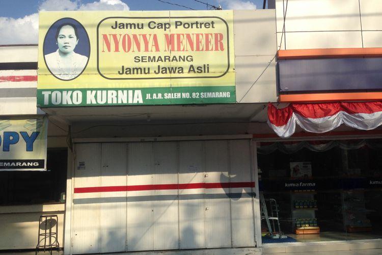 Depot Jamu PT Nyonya Meneer di Jalan Abdurrahman Saleh, Semarang, Senin (7/8/2017)