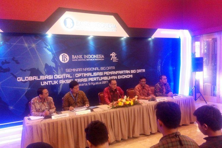 Seminar Globalisasi Digital: Optimalisasi Pemanfaatan Big Data untuk Akselerasi Pertumbuhan Ekonomi di Bank Indonesia, Rabu (9/8/2017).