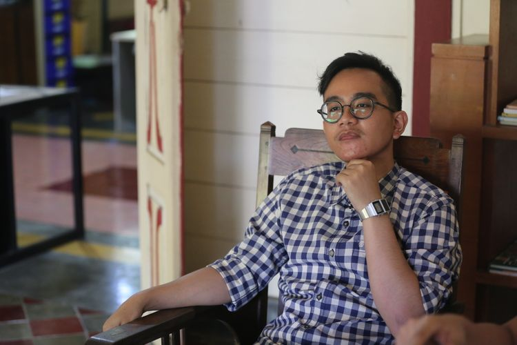 Gibran Rakabuming Raka, putra sulung Presiden Joko Widodo saat wawancara eksklusif dengan Kompas.com, di Solo, Jawa Tengah, Minggu (27/8/2017).