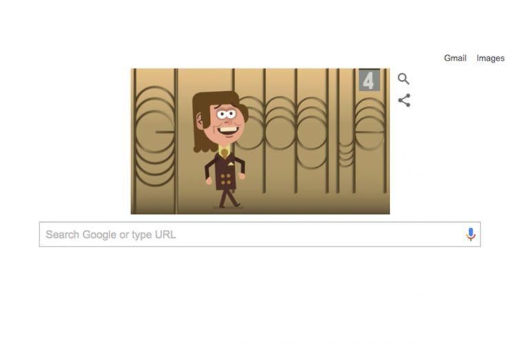 Google Doodle hari Senin (4/9/2017) yang mengangkat sosok Eduard Khil .