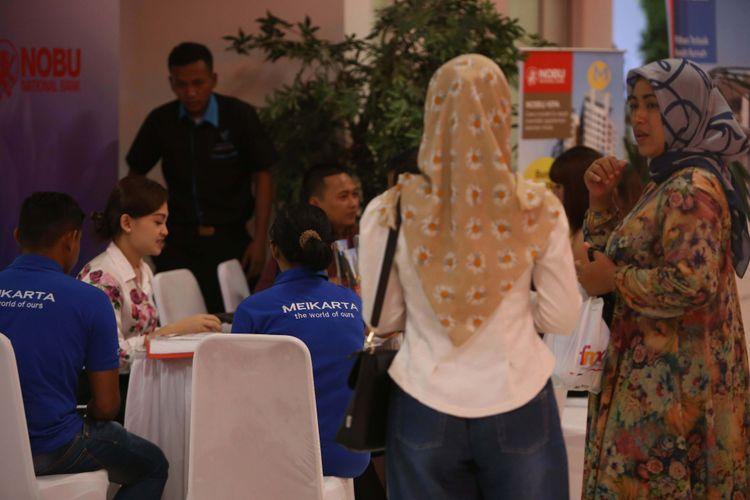 Suasana di Kantor Marketing Kota Baru Meikarta, Kabupaten Bekasi, Jawa Barat, Senin (4/09/2017). Pada tahap pertama, akan dibangun 200 ribu unit apartemen yang siap huni pada akhir tahun 2018.