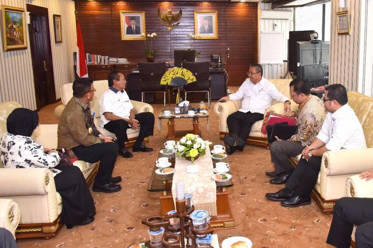 Bahas Gelaran TTG, Gubernur Sulteng Datangi Kantor Kemendes PDTT