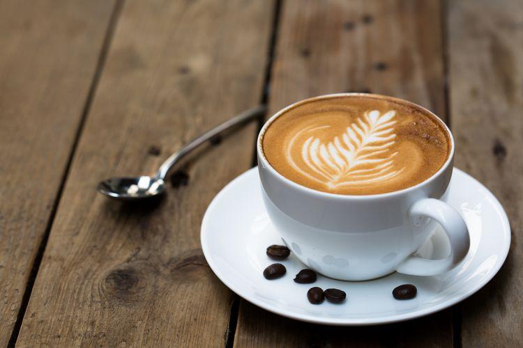 Ilustrasi kopi latte