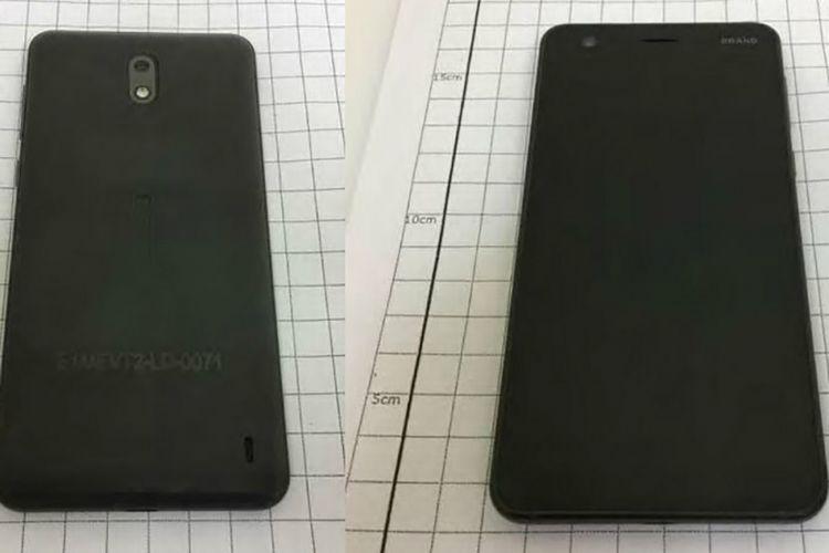 Bocoran foto Nokia 2 yang dilansir oleh SlashLeaks.