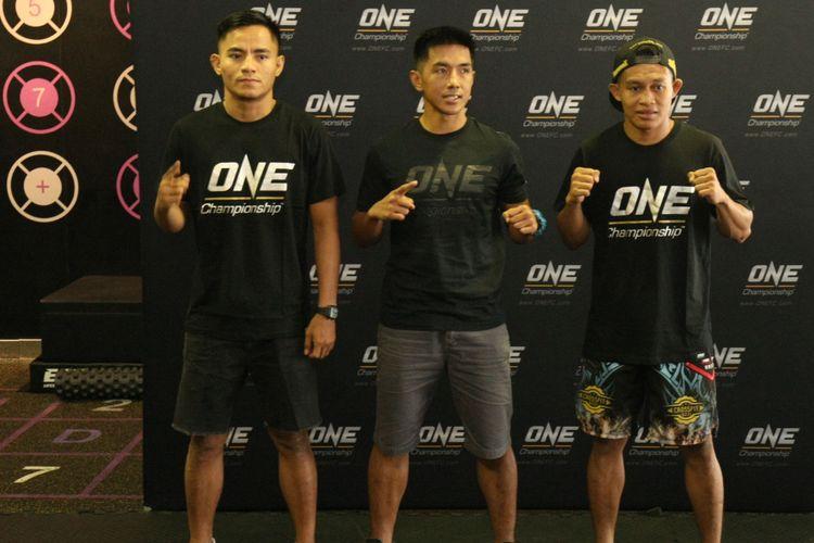 ONE Championship menyelenggarakan latihan terbuka untuk para petarung yang akan berlaga pada ONE: Total Victory di Celebrity Fitness FX Sudirman, Jakarta, Indonesia, Kamis (14/9/2017).