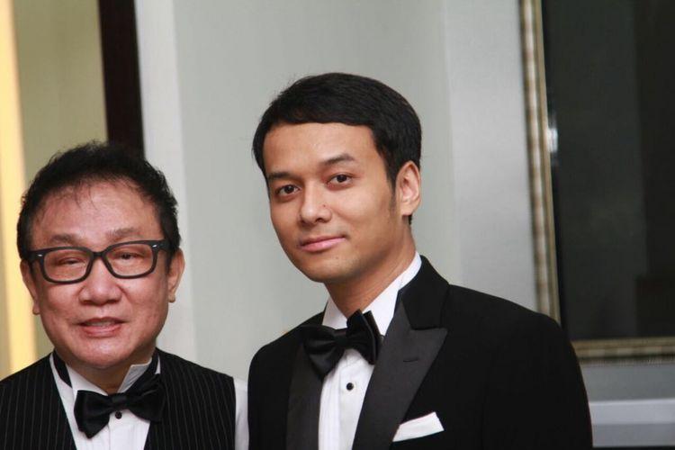 Desainer Amin Brutus dan calon kekasih Vicky Shu, yakni Ade Imam, ketika ditemui wartawan di Brutus Rumah Mode, Grand Indonesia, Jakarta Pusat, Sabtu (16/9/2017).