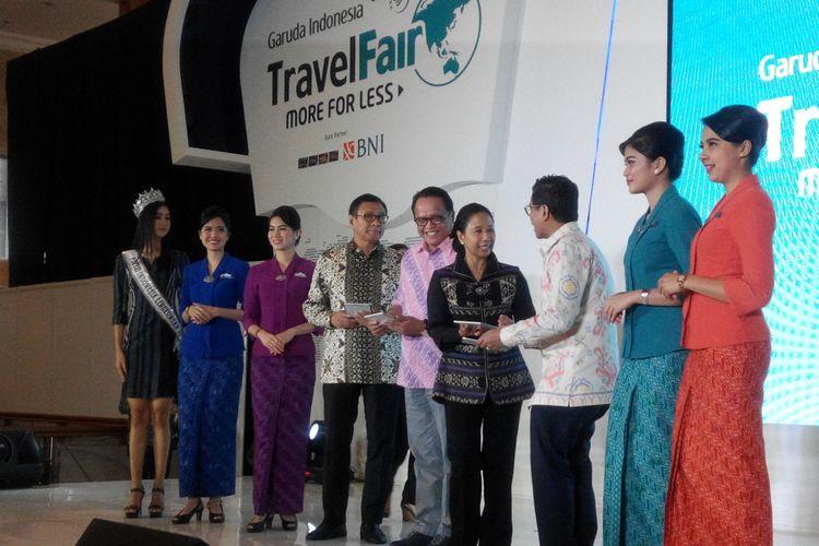 Pembukaan Garuda Indonesia Travel Fair (GATF) Phase II di Jakarta Convention Center, Jumat (22/9/2017).