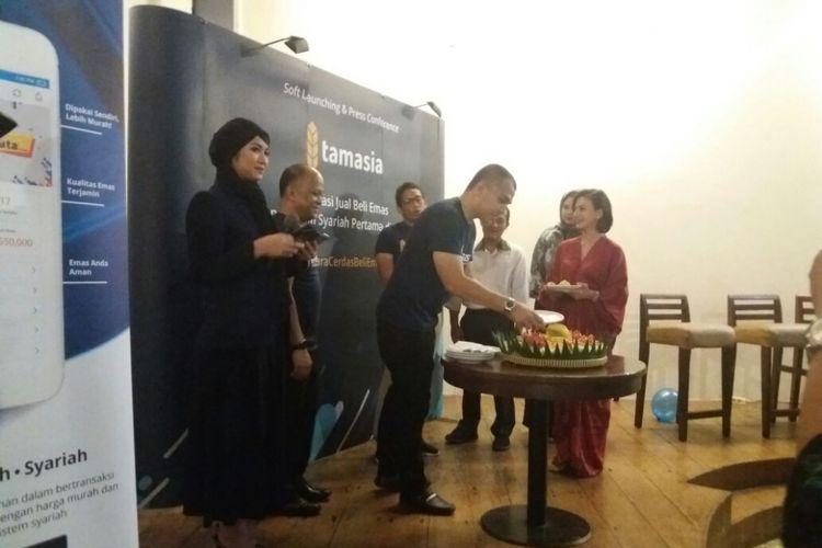 Peluncuran Aplikasi Tamasia di Restoran Es Teler 77, Jakarta, Rabu (11/10/2017)