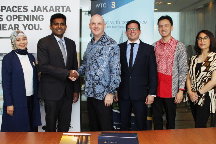 Penandatanganan kerja sama Spaces di Jakarta.