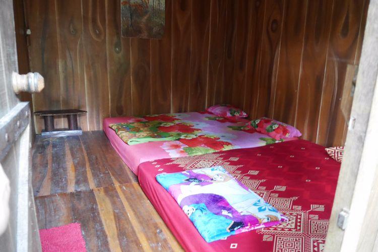 Konidisi kamar salah satu homestay yang ada di Desa Wisata Nglinggo yaitu Rimbono Homestay, Kabupaten Kulon Progo, Yogyakarta, Sabtu (4/11/2017).