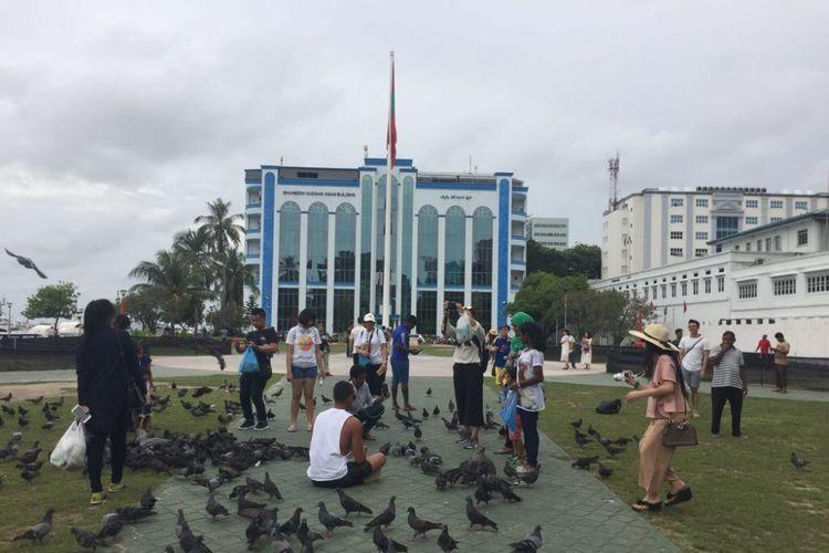 Ruang terbuka untuk publik di Male, Maldives.