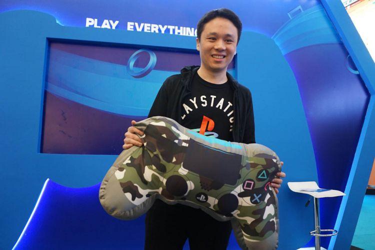 Ian Purnomo, Assistant Manager Public Relations Marketing Department, Sony Interactive Entertainment Hong Kong Limited Singapore Branch, di acara pembukaan Play Everything di Jakarta, Rabu (15/11/2017)