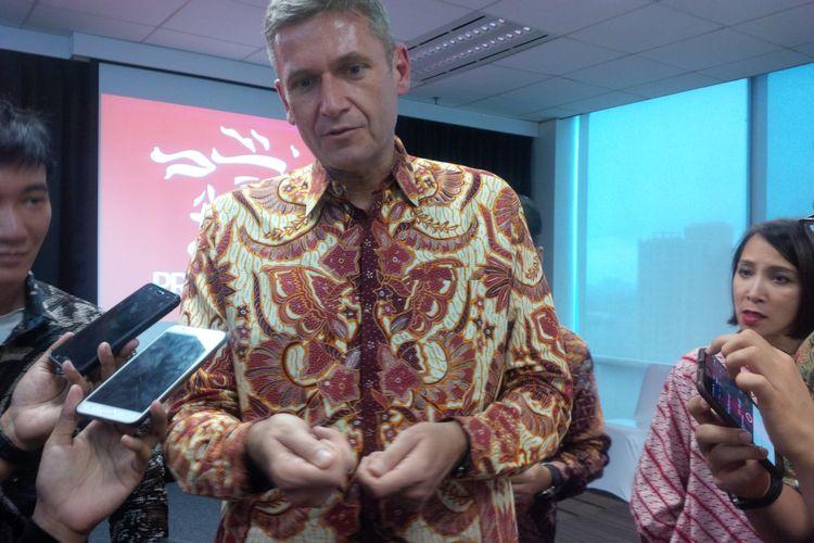 Presiden Direktur Prudential Indonesia, Jens Reischdi Gedung Prudential Center, Jakarta, Kamis (16/11/2017).