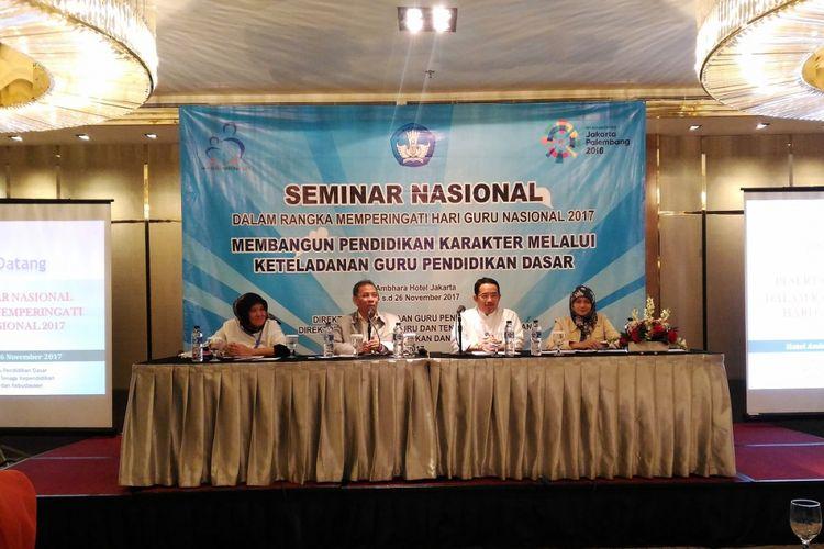 Seminar nasional dalam rangka Hari Guru Nasional 2017 di Hotel Ambara, Jakarta, 23 hingga 25 November 2017