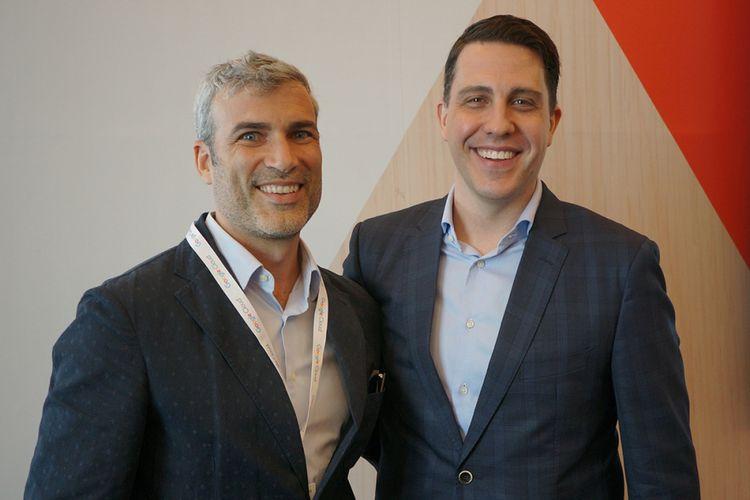 Managing Director Google Cloud untuk wilayah Asia Pasifik, Rick Harshman (kanan), dan Head of Google Cloud untuk Wilayah Asia Tenggara, Tim Synan.