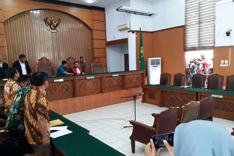 Bangku pihak KPK di sidang perdana praperadilan melawan Ketua DPR Setya Novanto nampak kosong. Kamis (30/11/2017)
