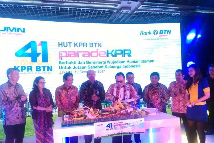 Perayaan 41 tahun kredit pemilikan rumah (KPR) oleh PT Bank Tabungan Negara (Persero) Tbk, Selasa (12/12/2017).
