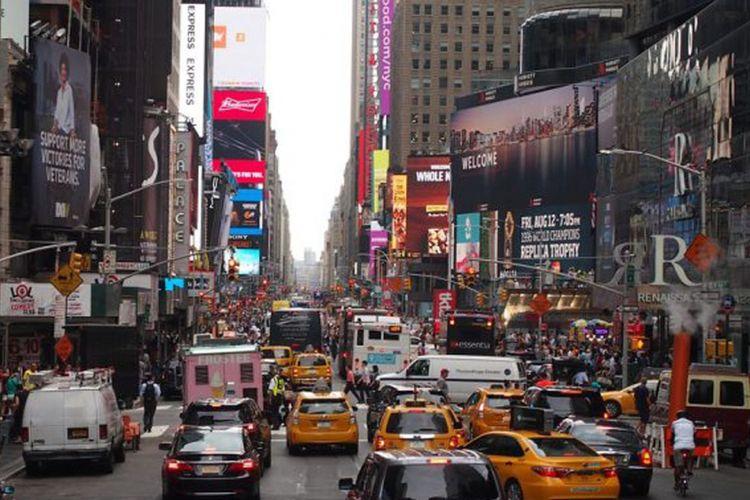 Ilustrasi kemacetan di New York.