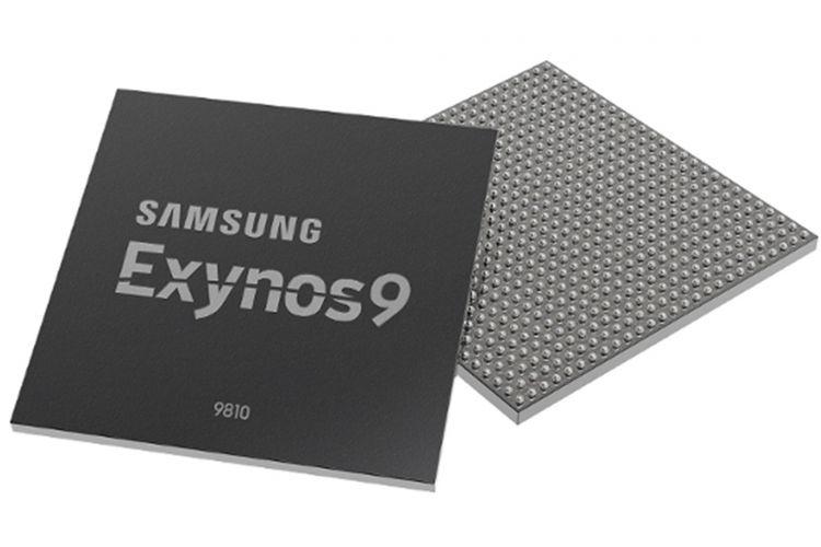Ilustrasi prosesor Samsung Exynos 9810.